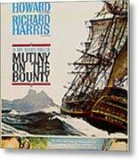 Vintage Mutiny On The Bounty Movie Poster 1962 Metal Print