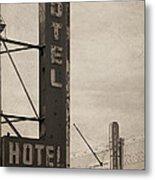 Vintage Neon Metal Print