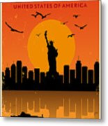 Vintage New York Poster Metal Print