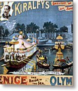 Vintage Nostalgic Poster - 8056 Metal Print by Wingsdomain Art and Photography