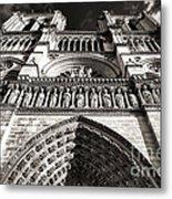 Vintage Notre Dame Metal Print by John Rizzuto