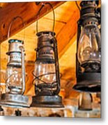 Vintage Oil Lanterns Metal Print by Paul Freidlund