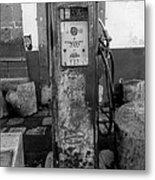 Vintage Old Gas Pump Metal Print