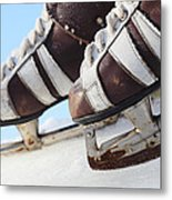 Vintage Pair Of Mens  Skates  Metal Print by Mikhail Olykaynen