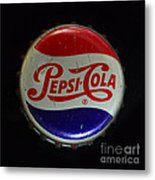 Vintage Pepsi Bottle Cap Metal Print
