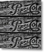 Vintage Pepsi Boxes Metal Print