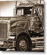 Vintage Peterbilt Truck Metal Print