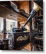 Vintage Phonograph Metal Print