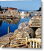 Lobster Traps In Maine Metal Print