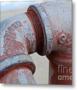 Vintage Pipe Recycled  Metal Print