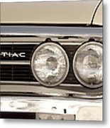 Vintage Pontiac Firebird 1967 Close Up Metal Print