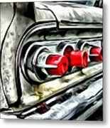 Vintage Pontiac Taillights Metal Print