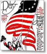 Vintage Poster - America - Flag Day 1917 Metal Print by Benjamin Yeager
