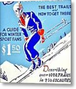 Vintage Poster - Sports - Skiing Metal Print