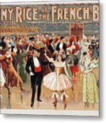 Vintage Poster Fanny Rice At The French Ball Metal Print