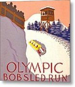 Vintage Poster - Olympics - Lake Placid Bobsled Metal Print