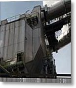 Vintage Power Plant  Part View Industrial Photography Metal Print