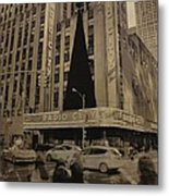 Vintage Radio City Music Hall Metal Print by Dan Sproul