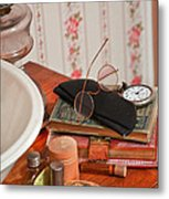 Vintage Reading Glasses Still Life Art Prints Metal Print