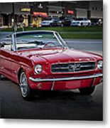 Vintage Red 1966 Ford Mustang V8 Convertible  E48 Metal Print