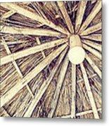 Vintage Reed Roof Metal Print