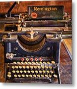 Vintage Remington Typewriter  Metal Print