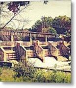 Vintage River Dam Metal Print