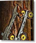 Vintage Roller Skates 5 Metal Print