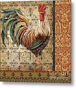 Vintage Rooster-a Metal Print