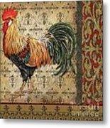 Vintage Rooster-d Metal Print