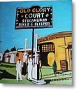 Vintage Route 66 Diner Sleeper Metal Print
