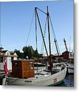 Vintage Sailing Boat - Ct Metal Print