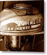 Vintage Sea Horse Metal Print