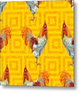 Vintage Seamless Pattern With Farm Metal Print