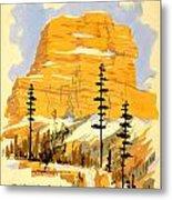 Vintage See America Travel Poster Metal Print