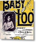 Vintage Sheet Music Cover  Circa 1898 Metal Print