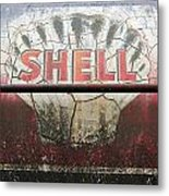 Vintage Shell Oil Rail Tanker Car Metal Print