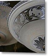 Vintage Silver And Glass Lighting Fixture Metal Print