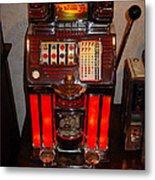 Vintage Slot Machine 25 Cents Metal Print