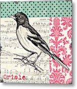 Vintage Songbird 2 Metal Print by Debbie DeWitt