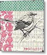 Vintage Songbird 4 Metal Print