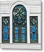 Vintage Stained Glass Windows Metal Print
