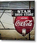 Vintage Star Drug Store Metal Print by Perry Webster