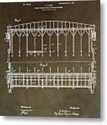 Vintage Starting Gate Patent Metal Print