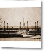 Vintage Statue Of Liberty View Metal Print
