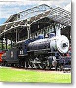 Vintage Steam Locomotive 5d29281 V2 Metal Print