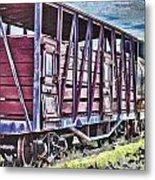 Vintage Steam Locomotive Carriages Metal Print