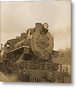 Vintage Steam Locomotive Metal Print
