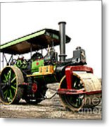 Vintage Steam Roller Metal Print