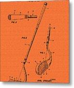 Vintage Stecher Gold Club Patent - 1960 Metal Print
